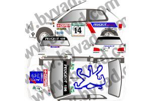 Kit déco Peugeot 106 CORTE INGLES 95