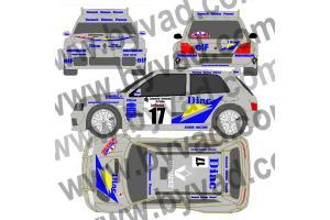 Kit déco Clio Diac - Corse 1995 - Ragnotti Thimonier