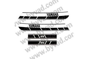 Kit complet stickers YAMAHA 125 RDX 1E7 1976