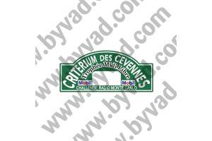 1 Plaque de Rallye Adhésive Rallye des Cevennes 1971