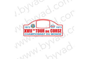 1 Plaque de Rallye Adhésive Tour de Corse 1973