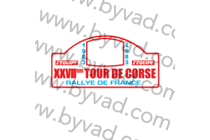 1 Plaque de Rallye Adhésive Tour de Corse 1983