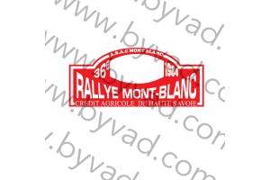 1 plaque rallye du Mont Blanc 1984