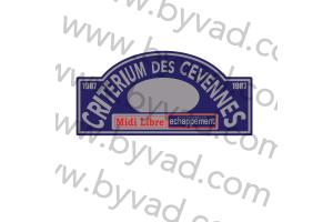 1 Plaque de Rallye Adhésive Rallye des Cevennes 1987
