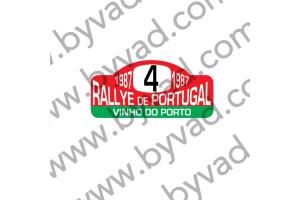 1 Plaque de Rallye Adhésive Rallye du Portugal 1987