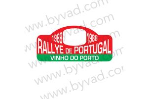 1 Plaque de Rallye Adhésive Rallye du Portugal 1988