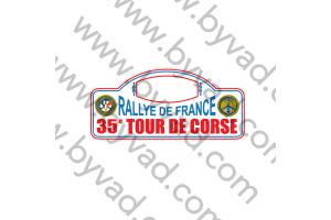 1 Plaque de Rallye Adhésive Tour de Corse 1991