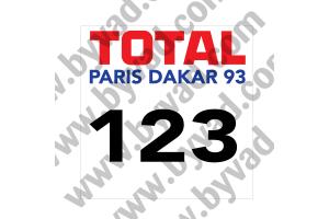 2 Fonds de portière Rallye Paris Dakar 1993