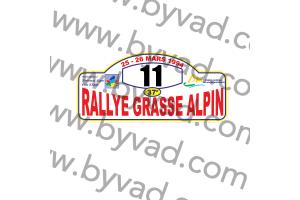 1 Plaque de Rallye Adhésive Rallye Grasse Alpin 1994