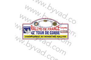 1 Plaque de Rallye Adhésive Tour de Corse 1998