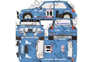 Kit déco R5 Turbo Tour de Corse 1980