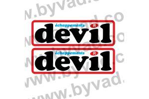 Autocollant Devil Echappement