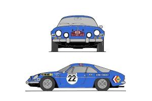 Kit déco Alpine A110 Monte Carlo 1971
