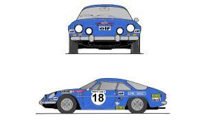Kit déco Alpine A110  Monte Carlo 1973