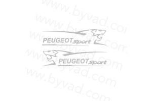 2 Stickers Peugeot Sport Lion