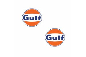 2 Stickers Gulf 20 cm
