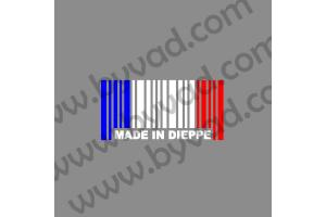 Autocollant MADE IN DIEPPE