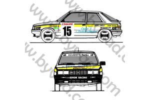 Kit déco R11 Turbo Alain Oreille Monte Carlo 1987