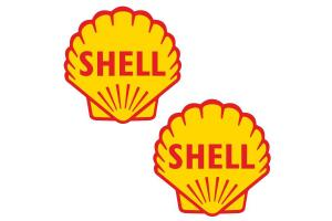 2 stickers SHELL VINTAGE