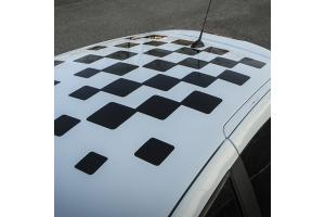 Sticker de toit damier TWINGO