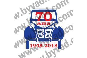 Autocollant 70 ANS de la 2CV