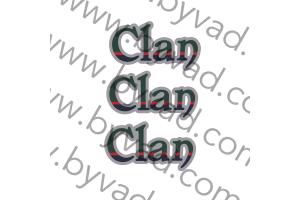 Trois autocollants 4L CLAN