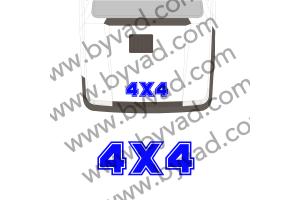 Sticker 4x4 PANDA pour capot