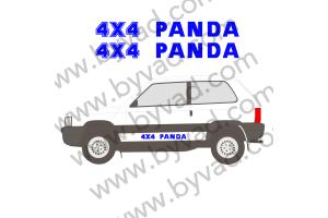 2 Stickers 4x4 PANDA
