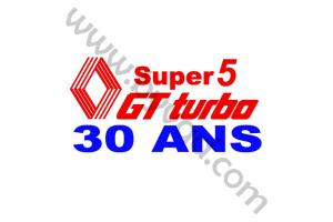 Sticker R5 Gt Turbo 30 ans