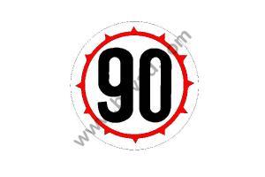 Sticker 90 pneus cloutés