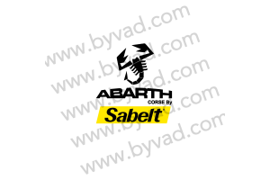 Autocollant Abarth Corse By SABELT