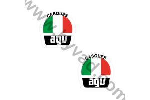 2 Stickers Casques AGV