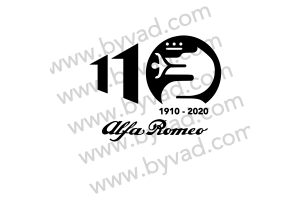 Autocollant Alfa Roméo 110 Ans SANS FOND