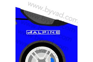 2 Stickers alpine vintage
