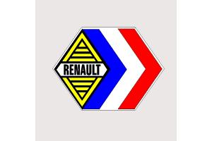 Autocollant Renault Compétition
