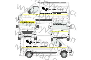 Kit déco Assistance Renault Sport taille L (Master, Sprinter, Boxer)