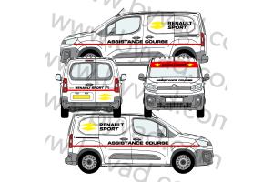 Kit déco Assistance Renault Sport RS 16 taille S (Kangoo, Partner, Berlingo)
