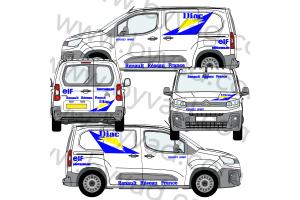 Kit déco Assistance Renault Sport DIAC taille S (Kangoo, Partner, Berlingo)