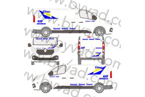 Kit déco Assistance Renault Sport DIAC taille M (Trafic, Vito, Transporter...)