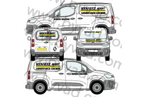 Kit déco Assistance Renault Sport Simon Racing taille S (Kangoo, Partner, Berlingo)