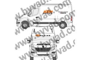 Kit Stickers Assistance KTM