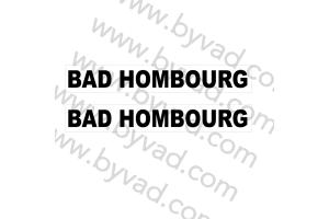 Autocollant Bad Hombourg x 2