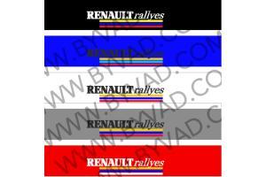 Bandeau pare soleil Renault Rallyes