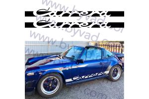 Bandes latérales Porsche Carrera