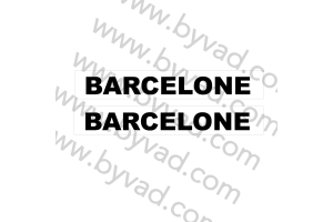Autocollant Barcelone x 2