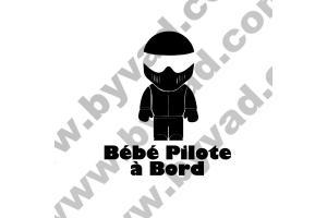 Stickers Bébé Pilote à Bord