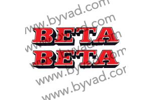 2 stickers BETA MX
