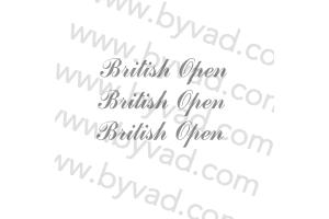 Kit 3 stickers Mini British Open version IMPORT