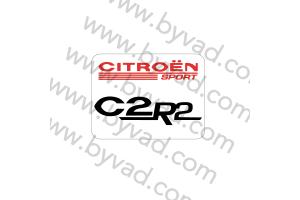 Sticker de tableau de bord citroen C2R2