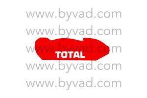 Sticker de capot TOTAL pour 306